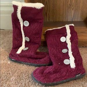 Burgundy Muk Luk boots